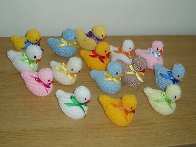 HAND KNITTED EASTER CHICKS  x 15