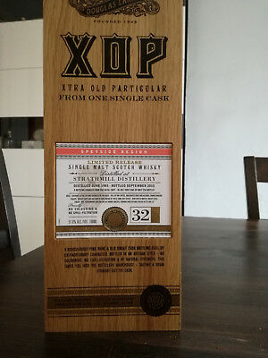 EMPTY bottle of whisky Strathmill 32yo Douglas Laing XOP VIDE