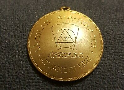 Masonic Medallion R.A. Chapter Lachlan Advanced 1921