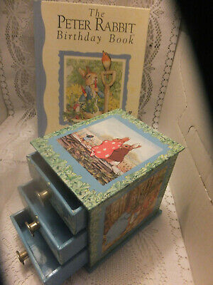 PETER RABBIT Birthday Book & Little Chest of Drawers