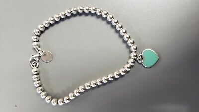 58b0131a7d70d TIFFANY & CO Mini 4mm Return to Tiffany Amazonite Bead Bracelet ...