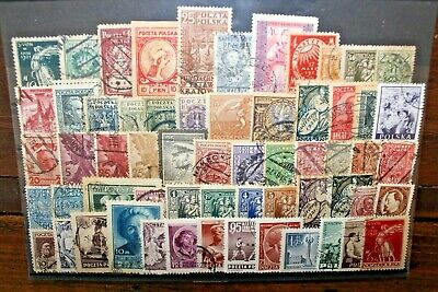 Francobolli Polonia Poland 60 Different Stamps Used Lot Classic Pre 1960 (Cat.5)