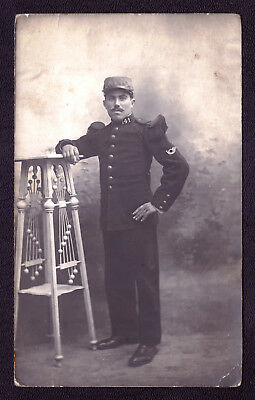 Old Photo Postcard France WWI War Military Orchestra Soldier Musician  1918s #48