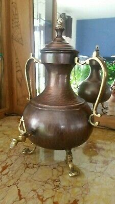 Samovar Kupfer mit Messing