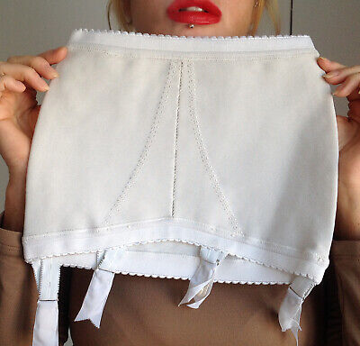 New Vintage Clairette Open Bottom Firm Roll On Suspender Girdle fit aprox. sz 10