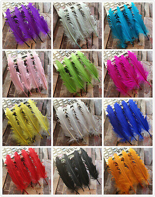 Wholesale 10-100pcs Beautiful Natural Goose Feather Decoration 12-18 cm/5-7 inch