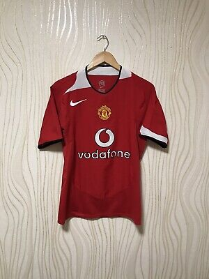 4d4f45bc7 MANCHESTER UNITED 2004 2005 2006 HOME FOOTBALL SOCCER SHIRT NIKE JERSEY sz S