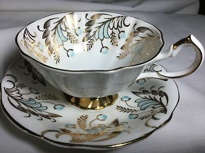 Queen Anne Bone China  Scalloped Cup And Saucer England