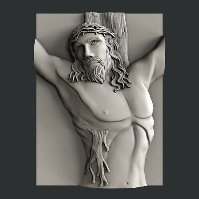 3d STL models for CNC, Artcam, Aspire, decor religion jesus
