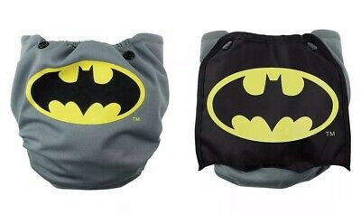Bumkins Cape Batman Cloth Diaper Snap In One Adjustable Slight Damage See Photos