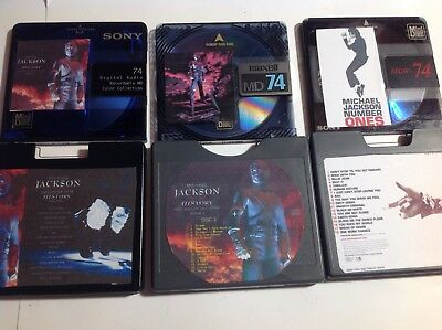 3 recordable Blank Minidiscs 74 minute  Great Music.  Michael Jackson