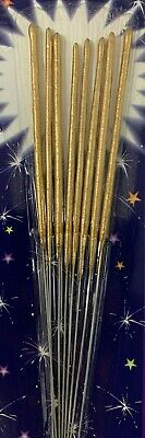 Pack of 96 Metallic colour Sparkler Candles Birthday Weddings Cake top Blue pink