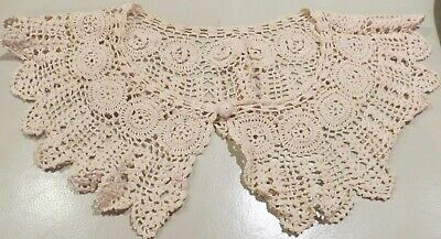 "Antique Fancy Lace Ladies Collar or for Doll Clothing 25"" x 6"""