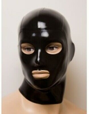 Sexy Black Latex Mask Rubber Hood for Party Wear Catsuit Unique New