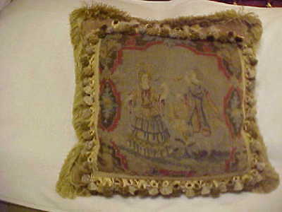 Victorian Wool & Silk Velvet Pillow - Gorgeous !!!!!