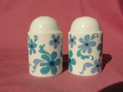 ROSENTHAL Porcelain China - BLUE FLOWER (duo shape) - SALT & PEPPER SHAKERS