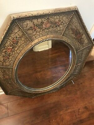 Vintage Turner Wall Accessory Oval Octagon Mirror