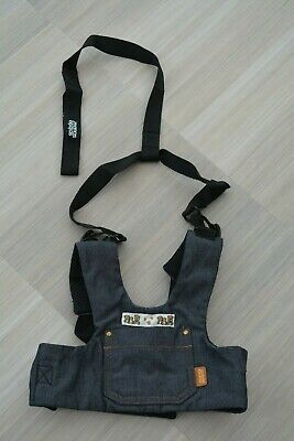 NEW Mamas and Papas Blue Denim Harness Reins Toddler Safety