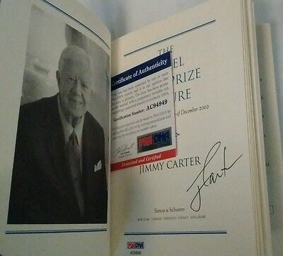 JIMMY CARTER The Nobel Peace Prize Lecture Autographed Book PSA/DNA AC94949