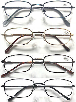 Classic Style Metal Reading Glasses/Spring Hinges/Multi Colour&Shape +0.50~+6.00