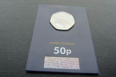 2019 1 x 50p  STEPHEN HAWKING COIN fifty Pence  BUNC                          M2