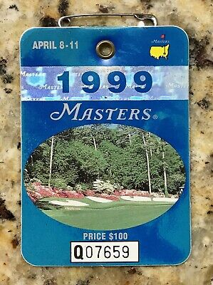 1999 Masters Augusta National Golf Club Badge Ticket Jose Maria Olazabal Wins