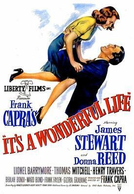 "It's a Wonderful Life  Movie Mini Poster 4"" x 6""  Fridge Magnet Glossy Photo"