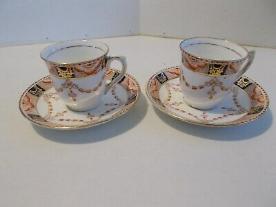Colclough China made in England dematassee Tea set (2) sets