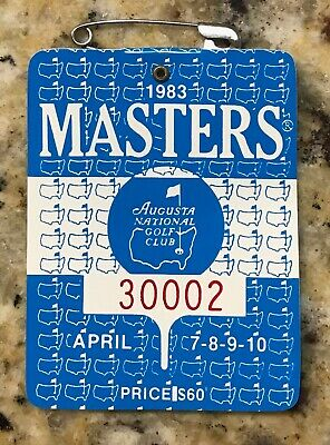 1983 Masters Augusta National Golf Club Badge Ticket Seve Ballesteros Wins Rare