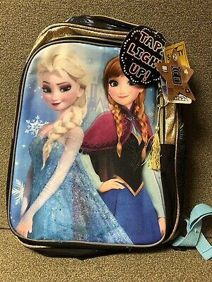 NEW WITH TAGS Frozen Anna & Elsa By Disney Light-Up Backpack