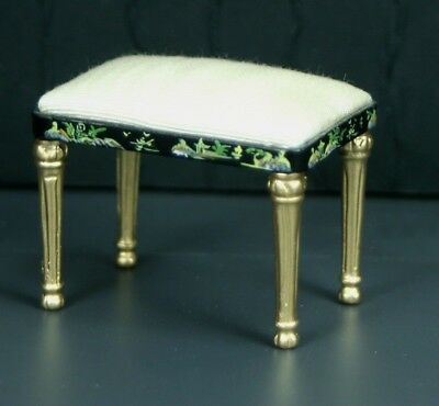 "Creme Foot Stool MUSEUM QUALITY DOLLHOUSE FURNITURE 1//12 or 1/"" Scale BESPAQ"