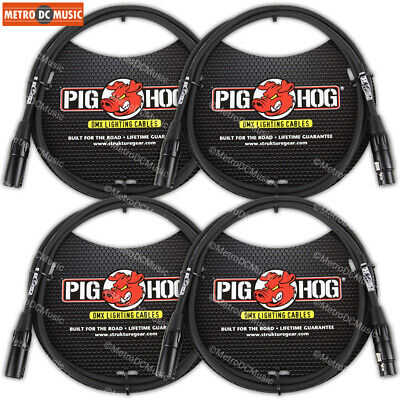 3ft Pig-Hog XLR 3-Pin M//F DMX Shielded Stage Lighting Data Cable DX-0003P