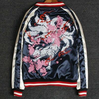 Men Women unisex Japanese Retro Yokosuka souvenir Jacket Gumiho Embroider XL-UKM