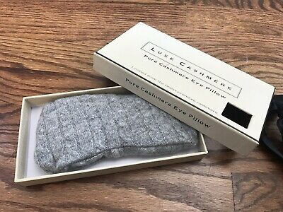 Luxe Cashmere Gray Cable Knit Eye Pillow
