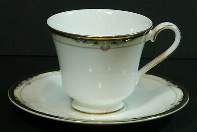 Royal Doulton Footed Cup with Saucer Set * Rhodes Pattern