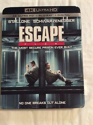 Escape Plan 4K Ultra Hd Blu Ray 2 Disc Set + Slipcover Sleeve Free Shipping