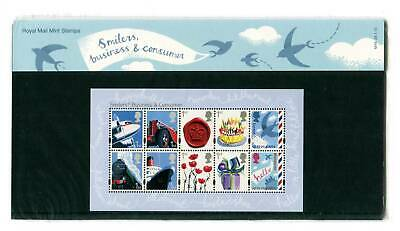 2010 GB Business and Consumers Smilers Presentation Pack. Minisheet. SG MS3024