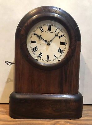 Early Seth Thomas 8 Day Tudor Tombstone Cottage Kithchen Mantle Clock