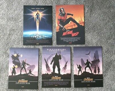 CAPTAIN MARVEL Poster Avengers infinity war antman WASP A4 Official Odeon New