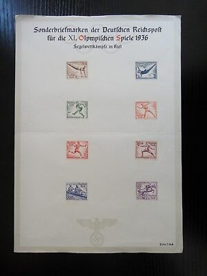 Germany Nazi 1936 Stamps Used Summer Olympic Berlin Third Reich Deutschland Germ
