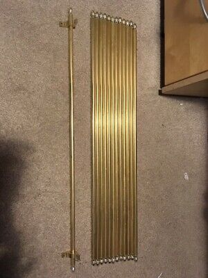 13 Brass Stair Rods 76cm with front fittings. Good condition
