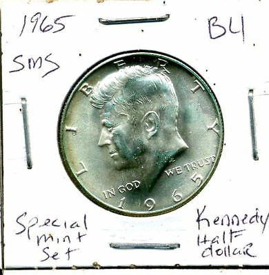 1965 P SMS SILVER CH BU Kennedy Half Dollar Brilliant Uncirculated Coin U.S#3028