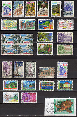 France Petit lot de timbres Thème DOM TOM Outremer Overseas
