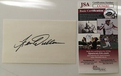 Movies Robert Alda Signed Autographed 3x5 Card Jsa Certified Entertainment Memorabilia