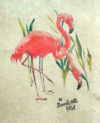 The Beverly Hills Hotel, Pink Flamingos Print, 22'x15'x Signed Fairchild Paris