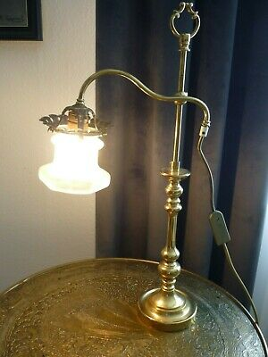 Alte - Art Deco - Tischlampe - Messing - Design  Stil