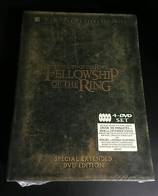 The Lord of the Rings: The Fellowship of the Ring Extended 4 Disc Set DVD SEALED
