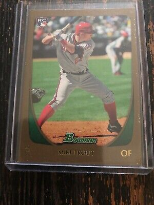 2011 Bowman Draft 101 Mike Trout Gold Parallel Sp Rc Rookie Card Angels