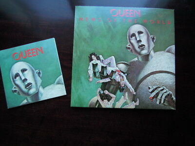 """Queen Lp ' News Of The World ' & ' We Are The Champions ' 7 """" P/s Both Nr Mint !"""