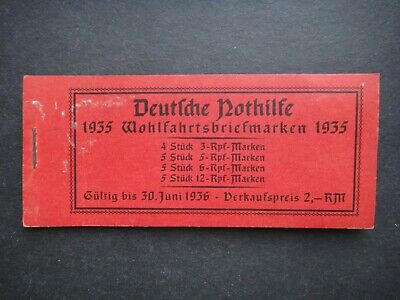 Germany Nazi 1935 1936 Stamps MINT booklet Third Reich Deutschland German